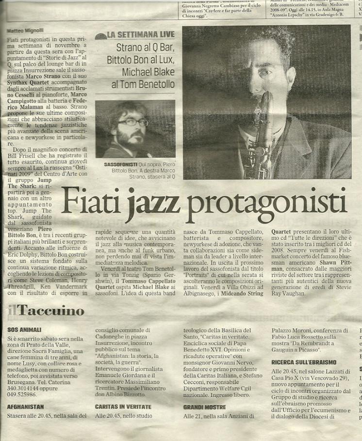 Giornale di Vicenza Aprile 2003